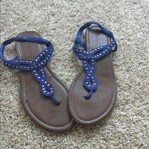 American Eagle Royal Blue sandals 6 1/2